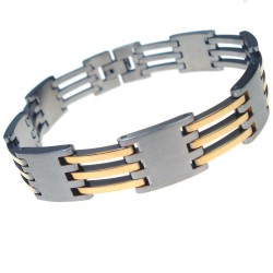 RVS Armband Gold Bars