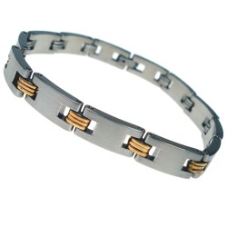 RVS Armband Gold Links