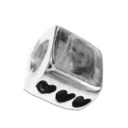 Pandora Style Photo Bead Heart