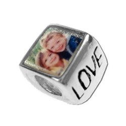 Pandora Style Photo Bead Love