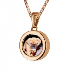 Mini Coin Pendant with photo Rose Gloss