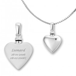 Memorial Ash Holder Heart Pendant Silver