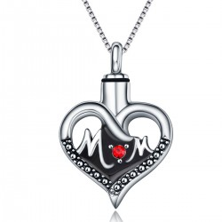 Memorial Ash Holder Mother Heart Pendant
