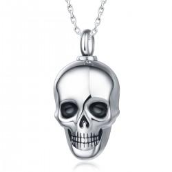 Memorial Ash Holder Skull Pendant