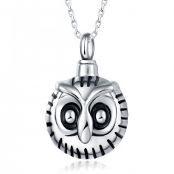 Memorial Ash Holder Owl Pendant