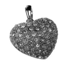 Pendant Heart with Zircon