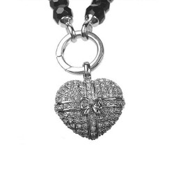 Pendant Heart with Loop CZ