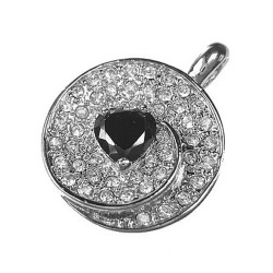 Pendant Circle With Heart