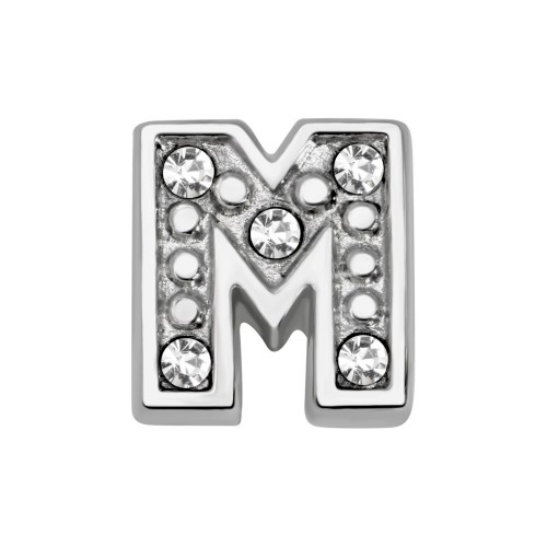 Memory Locket charm letter M