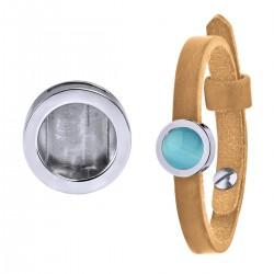 Mini Coin Bracelet Beige