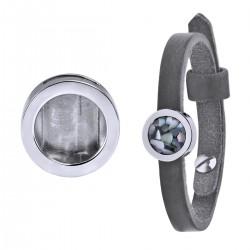 Mini Coin Bracelet Grey