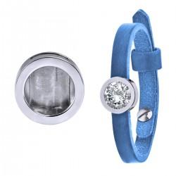 Mini Coin Bracelet  Azure Blue