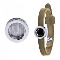 Mini Coin Bracelet Tortilla Brown