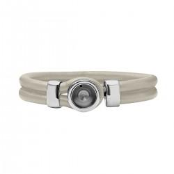 Mini Coin Bracelet socket Beige 18 cm
