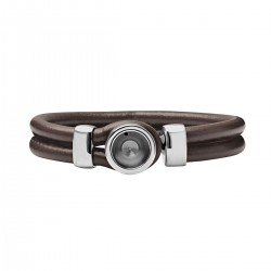 Mini Coin Bracelet socket brown 18 cm