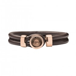 Mini Coin Brown Bracelet socket Rosé 18 cm