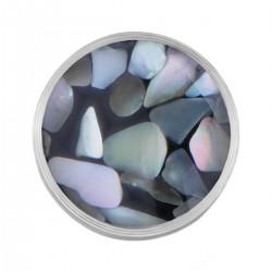 Mini Coin Grey Pebble Flakes
