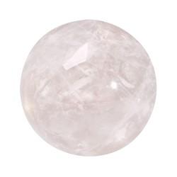Mini Coin Dusty Pink Rose Quartz Stone