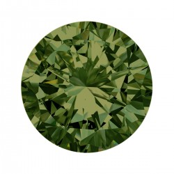 Mini Coin Olive Green Crystal