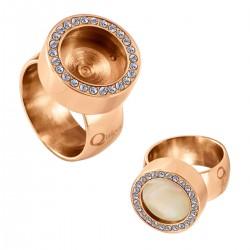 Interchangeable Ring Zirconia Rose Shiney