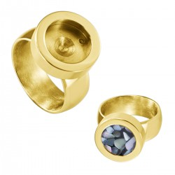 Interchangeable Ring Gold colored Shiney