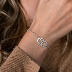 Bracelet with name 2 hearts
