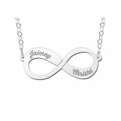 NameNecklace Infinity twee namen