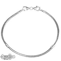 Silver charm bracelet 17 cm