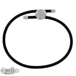 Silver charm bracelet slice 16-23 cm