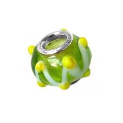 Silver Glass Bead for Pandora GZ02a