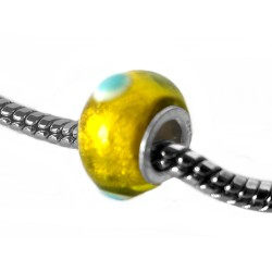 Silver Glass Bead for Pandora GZ125