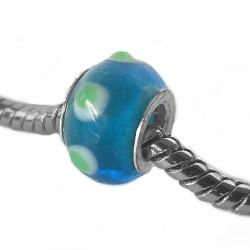Silver Glass Bead for Pandora GZ134