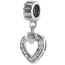 Silver Bead for Pandora PZ062