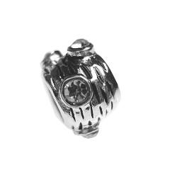 Silver Bead for Pandora PZ095