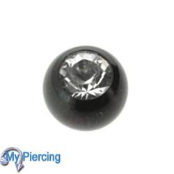 Piercing Ball 1.6 x 5 Black Line White