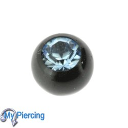 Piercing Ball 1.6 x 5 Black Line Aqua
