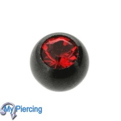 Piercing Ball 1.6 x 5 Black Line Red