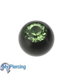 Piercing Ball 1.6 x 5 Black Line Green