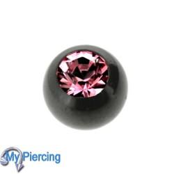 Piercing Ball 1.6 x 5 Black Line Dark Pink