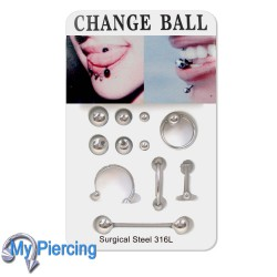 Piercing set Assorti