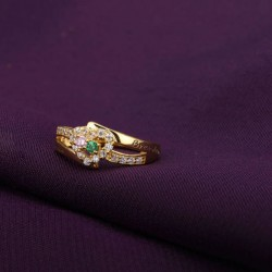 Engraved Ring Silver with Birth Stones Open Heart