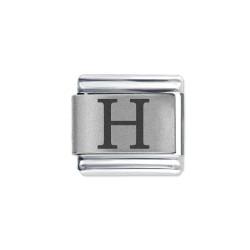 L044 Italian Charm letter H