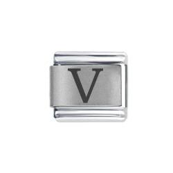 L058 Italian Charm letter V