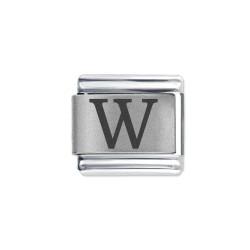 L059 Italian Charm letter W